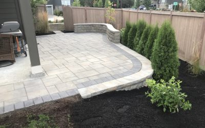 Paver Patio & Seating Wall in North Bend, WA