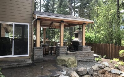 Outdoor Room, Patio and Fireplace in North Bend, WA